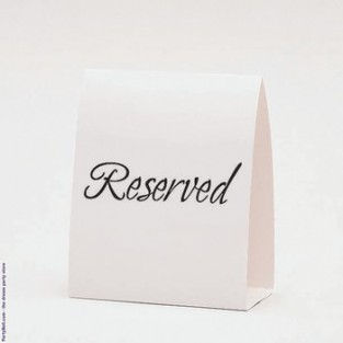Table Tent - Reserved - 12 ct