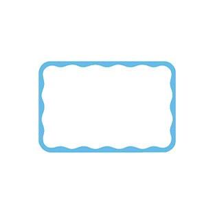 Nametags - Stick-on - Blue Border - 100ct