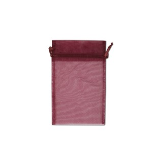 Pouch - Sheer - Burgundy - 5x6 - 10pk