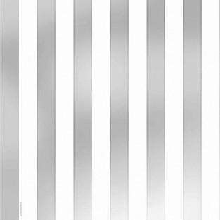 "Giftwrap - Foil - Stripe - Silver - Jumbo - 30""x12'"