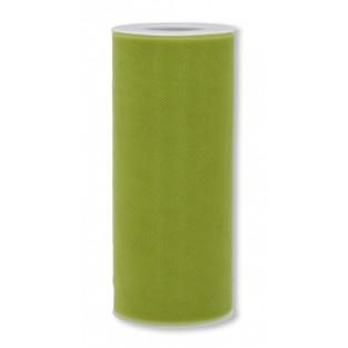 Ribbon - Tulle - 6inx25yd - Basil