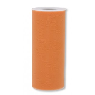 Ribbon - Tulle - 6inx25yd - Orange