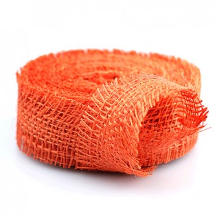 Ribbon Jute - 1.5x10yd - Orange