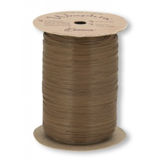 Ribbon - Wraphia - Matte - 100yd -Milk Chocolate
