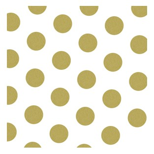 Tissue - 20x30 - 10pk - Gold Polka Dots