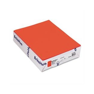 Britehue, 65lb Cover, 8.5x11, Orange