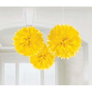 Fluffy - 3pk - Sunshine Yellow