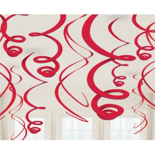 Deco Swirls - Apple Red