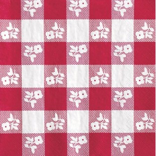 Napkin-Lunch-Gingham-Red - 50pk