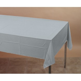 Tablecover-Plastic-Shimmering Silver-54x108