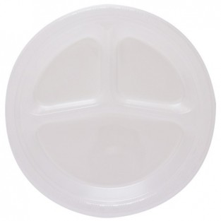Plate-Plastic-Divided-Clear-20 count