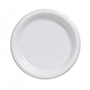 Plate-Plastic-White-9 inch