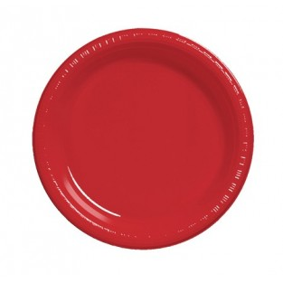 Plate-Plastic-Classic Red-9 inch-20 count