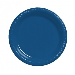 Plate-Plastic-Navy-9 inch-20 count