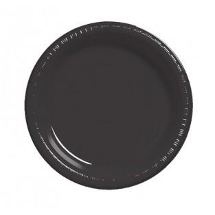 Plate-Plastic-Black Velvet-9 inch-20 count