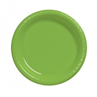 Plate-Plastic-Fresh Lime-7 inch-20 count