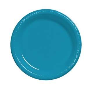 Plate-Plastic-Turquoise-7 inch-20 count