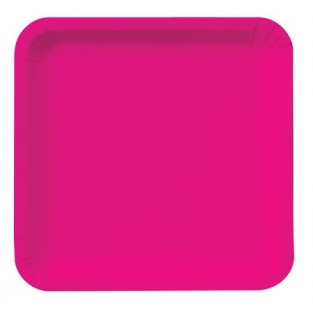 Plate-Paper-Hot Magenta-7 inch-Square-18 count