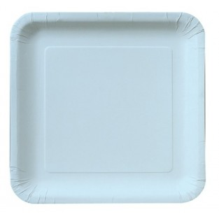Plate-Paper-Pastel Blue-7 inch-18 count
