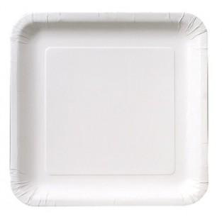 Plate-Paper-White-9 inch-Square-18 count