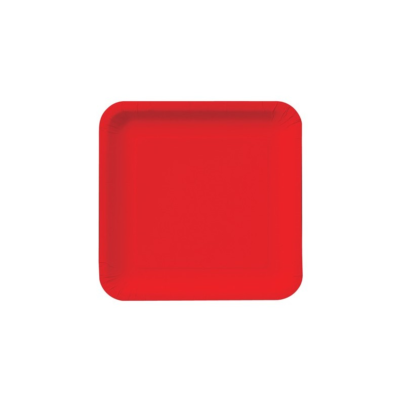 red paper tray plate paper classic red 9 inch square 18 count if its paper