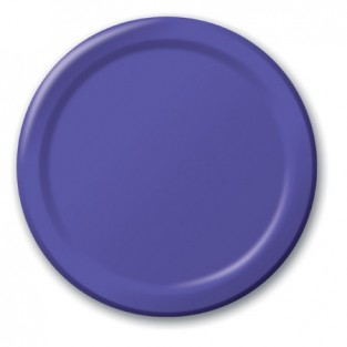 Plate-Paper-Purple-9 inch-24 count