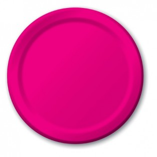 Plate-Paper-Hot Magenta-9 inch-24 count