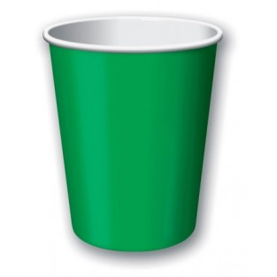 Cup-Emerald Green-9 ounce-24 pack