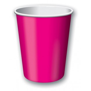 Cup-Hot Magenta-9 ounce-24 pack
