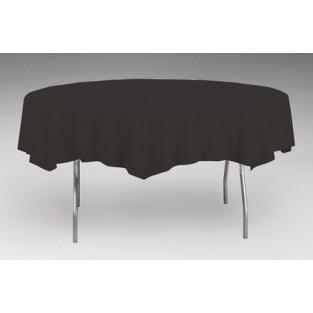 Tablecover-Plastic-Black Velvet-Round-82 inch