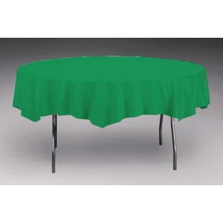 Tablecover-Plastic-Emerald Green-Round-82 inch