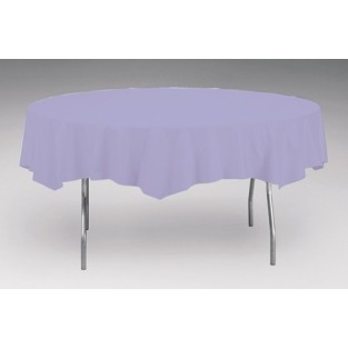 Tablecover-Plastic-Lavender-Round-82 inch