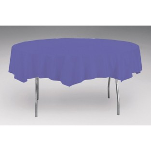 Tablecover-Plastic-Purple-Round-82 inch