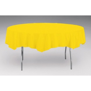Tablecover-Plastic-School Bus Yellow-Round-82 inch