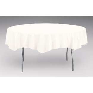 Tablecover-Plastic-White-Round-82 inch