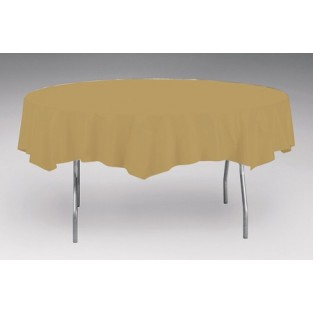 Tablecover-Plastic-Glittering Gold-Round-82 inch