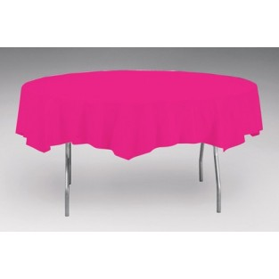 Tablecover-Plastic-Hot Magenta-Round-82 inch