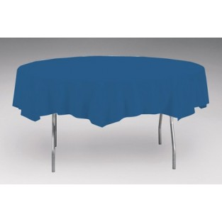 Tablecover-Plastic-navy-Round-82 inch