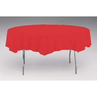Tablecover-Plastic-Classic Red-Round-82 inch