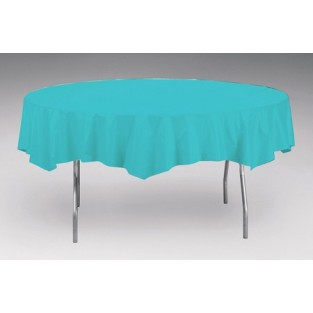 Tablecover-Plastic-Bermuda Blue-Round-82 inch