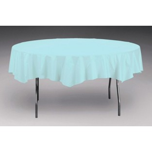 Tablecover-Plastic-Pastel Blue-Round-82 inch