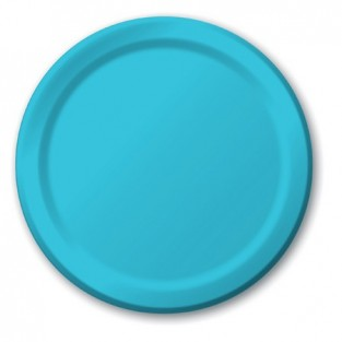 Plate-Paper-Bermuda Blue-7 inch-24 count