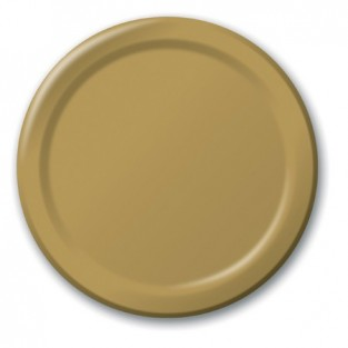 Plate-Paper-Glittering Gold-7 inch-24 count