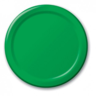 Plate-Paper-Emerald Green-7 inch-24 count