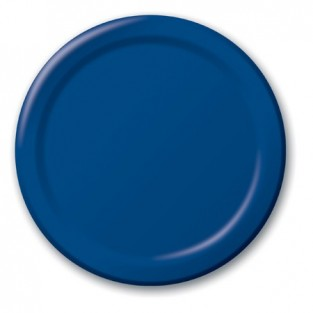 Plate-Paper-Navy-7 inch-24 count
