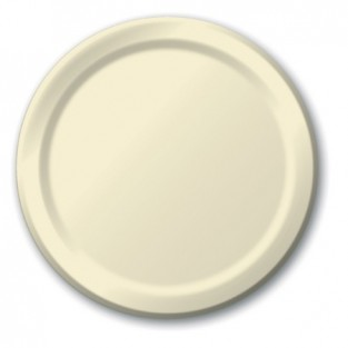 Plate-Paper-Ivory-7 inch-24 count
