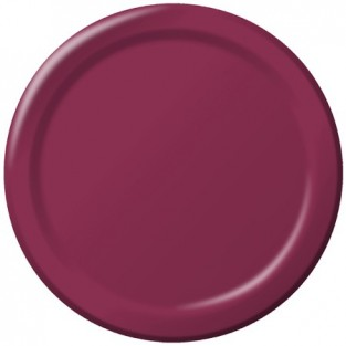 Plate-Paper-Burgundy-7 inch-24 count
