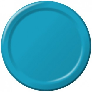Plate-Paper-Turquoise-7 inch-24 count