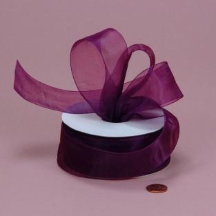 Ribbon - Sheer - 7/8inx25yd - Plum