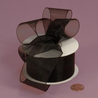Ribbon - Sheer - 1.5inx25yd - Black